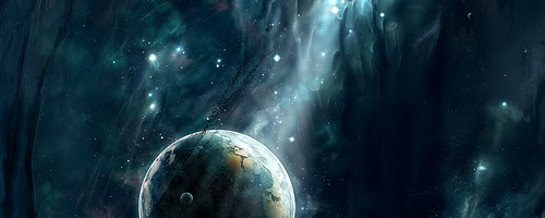 Yutoriel créer une planete space art de dilekt