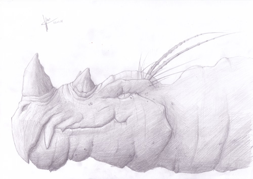 Dragon Head sketch by Spartan